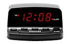Mainstays Digital LED Alarm Clock w Keyboard Controls Electric w Battery Backup