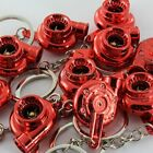 10PCS Universal JDM Spinning Turbo Charger Turbine Keychain Keyring Fob - Red