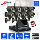 ANRAN 960P 8CH 7'' NVR IP Network Outdoor IR Wireless Security Camera System 2TB