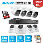 ANNKE Real 3MP IR Night Vision Security Camera System 4CH 8CH H.264+ DVR 0-4TB