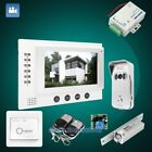 "HOMSECUR 7"" Video&Audio Home Intercom Electric Lock Supported for Home Security"
