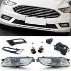 OEM Fog Lights Front Drive Lamp Cover Switch Kit for Ford Fusion Sedan 2017-2018