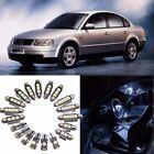 20x Car Interior White LED Light Bulb Kit for VW PASSAT B5 1997-2000