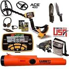 GARRETT ACE 400 METAL DETECTOR, PRO POINTER AT PINPOINTER, POUCH, EDGE DIGGER