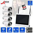 ANRAN 960P Security Camera System 4CH 12''LCD-M NVR Outdoor With 1TB Hard Drive