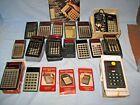 16 Vintage Pocket Electronic Calculators