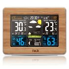 FanJu FJ3365 Weather Station Color Forecast with Alert   Temperature   Humidity