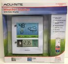 (New) Weather Resistant White 8-in Weather Station Forecaster with Color Display