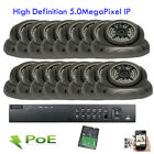 Amview 16Ch 5MP NVR 2592P ONVIF IP Dome 48IR IP66 OSD PoE Security Camera System