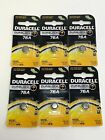 6 x 76A Duracell 1.5V Alkaline Button Batteries (LR44, A76, PX76A, V136A)