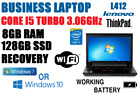 "CORE i5 3.06GHz TB MAX LENOVO NOTEBOOK w/8GB✓128GB SSD✓14"" WXGA✓WINDOWS  LAPTOP+"