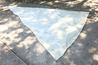 """Vintage White Sail 15'8"""" x 7'6"""" x 17' Sail Made by Oday Old Shade Reuse AS IS"""