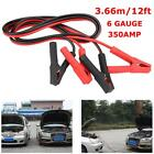 12 Ft 6 Gauge 350AMP Emergency Power Booster Cable Auto Car Battery Power Jumper