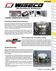 2007-2014 Yamaha Grizzly 350 Yamaha Yfm350 84.0mm (4419m) Piston Pk1020 Wiseco P