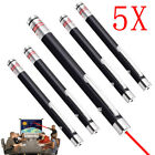5PCS 10 Miles 1MW 650nm RED Laser Pointer Pen Power Visible Beam Light AAA Lazer