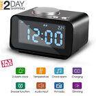 Clock Radio with Dual USB Port, Loud Musical Dual Alarm with Snooze and Indoor