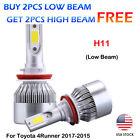 COB Conversion H11 9005 HB3 LED Headlight Kit Bulbs For Toyota 4Runner 2017-2015