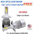 CREE H4 9003 LED Headlight Kit Power Bulbs 6000K For Honda Ridgeline2008-2006