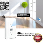 Fuvision Wi-Fi Hidden Camera,Electrical Outlet Design Spy IP Camera,30 Days Live