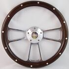 "55-56 All Mercury Cars 14"" Stained Mahogany with Rivets Aluminum Wood Billet ..."