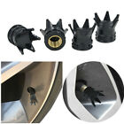 4Pcs  Car Tire  Wheel  Rims  Stem  Air  Valve  Crown  Caps Tyre Cover Of  Black