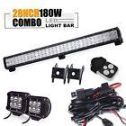 "28"" Led Light Bar 4"" light+wiring kit UTV Yamaha Rhino Kawasaki 660 700 ATV"