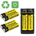6pc 18650 5000mAh 3.7V Li-ion High Energy High Capacity Lithium Battery +Charger