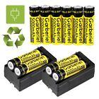 10x 3.7V 18650 Li-ion 5000mAh High Quality Rechargeable Battery +2pcs Charger US