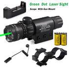 Hunting Green Dot Laser Sight Rifle Gun Scope Rail Mount Remote Switch +Battery