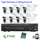 8Ch 5MP NVR 5MegaPixel 2.8-12mm Varifocal Zoom Lens Camera PoE IP ONVIF OSD Menu