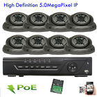 8Channel Network NVR 2592P 5MP PoE IP IP66 ONVIF Dome WDR Security Camera System