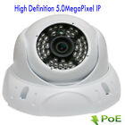5MP 2592P PoE ONVIF Dome Weatherproof IP Security Camera 48IR 130ft System 6Gv2