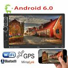 """7"""" Android 6.0 Double 2Din Car Stereo Radio MP5 PLAYER GPS Wifi 3G OBD AUX AO"""