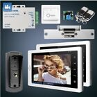 "HOMSECUR 7"" Hands-free Video Door Entry Security Intercom+One Button Unlock 1C2M"