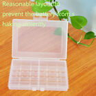 1pc Hard Plastic Battery Case Box Holder Storage for 10x AA AAA Batteries New US