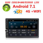 """7"""" Double 2 DIN Car Radio Stereo Receiver GPS Navigation Android 7.1 2+16G RAM"""