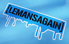 LE MANS 24 HOURS 2018 LEMANSAGAIN 'HOONIGAN' drip blue style stickers pair