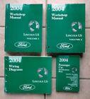 2004 Lincoln LS Service Shop Repair Workshop Manual Set Vol #1, 2 & Wiring diag