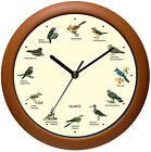 Wall Clock 12 Inch Singing Bird Battery Powered Beautiful Songs Sound Melody