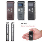 Digital Voice Recorder 4GB/8GB MP3 Player Rechargeable USB Audio Dictaphone  BVG