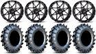 "ITP Tornado 14"" Wheels Black 30"" MotoBoss Tires Polaris RZR Turbo S / RS1"