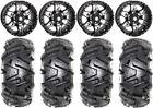 """STI HD7 14"""" Wheels Black 28"""" Moto MTC Tires Textron Wildcat XX"""