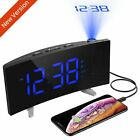 "MPOW 5"" LCD Digital Clock Laser Projector Projection Snooze Alarm Radio Backlit"
