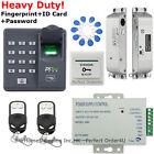 ZKTeco Fingerprint+RFID Card Door Access Control System+Door Drop Bolt Door Lock