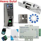 ZKTeco Fingerprint+125KHz RFID Card Metal Door Access Control System+Strike Lock