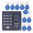 ZKTeco Fingerprint+RFID Card Password Access Control Keypad+10 RFID Keyfobs BEST