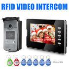 "7"" WIRED VIDEO DOOR PHONE VIDEO INTERCOM + RFID CARD ACCESS CONTROL CAMERA UNIT"