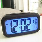 Electronic Digital LED Alarm Clock Arc Radio Desktop Snooze Clocks Thermometer
