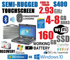 GETAC S400 SEMI-RUGGED LAPTOP i5-TURBO 2.93G 8G 160GB SSD TOUCHSCREEN WINDOWS