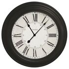 24 Round Wall Clock Home Decor Home Office Kitchen Time Durable Roman Numeral